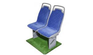 Пассажирское сиденье в обивке